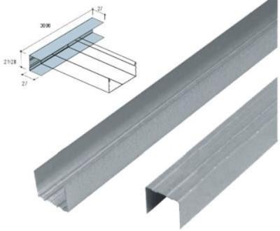 Profil UD pentru tavan din gips carton. Se fixeaza pe peretii verticali.