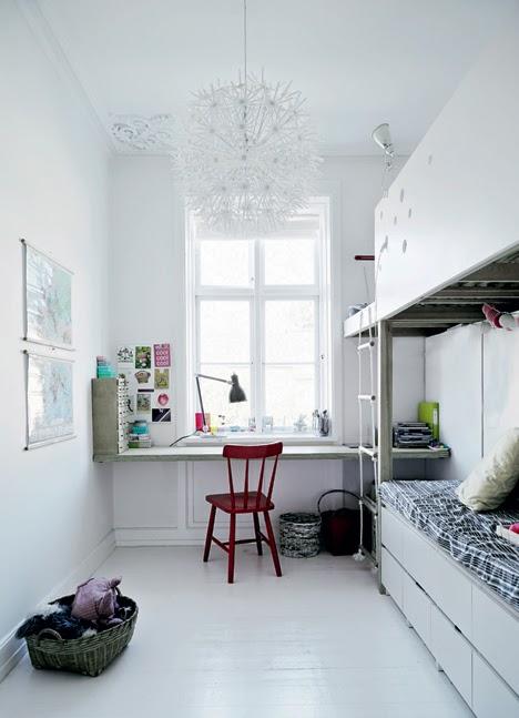 stilul scandinav camera copilului