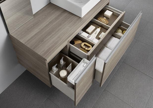 Organizare perfecta cu 2 colectii noi de mobilier de baie