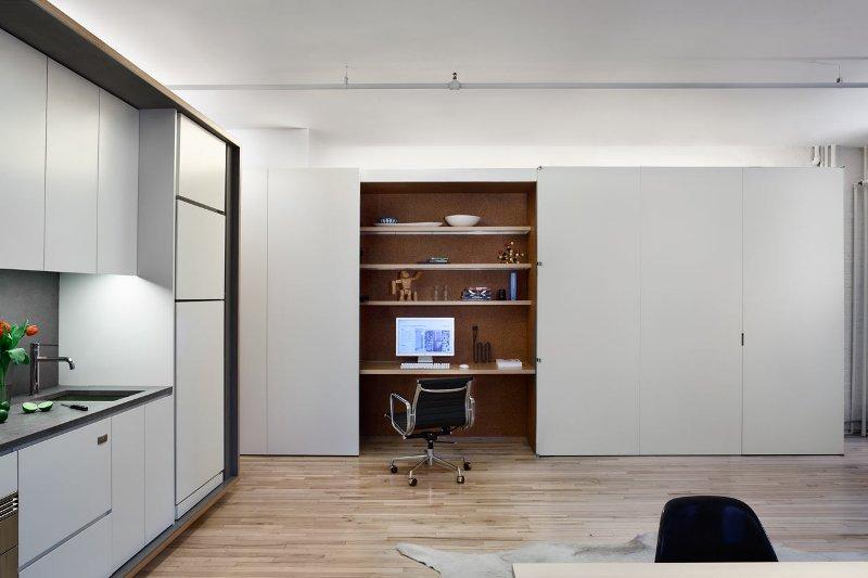 birou intr-un apartament multifunctional din New York