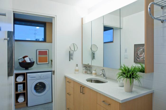 casa panouri sip, baie, masina de spalat