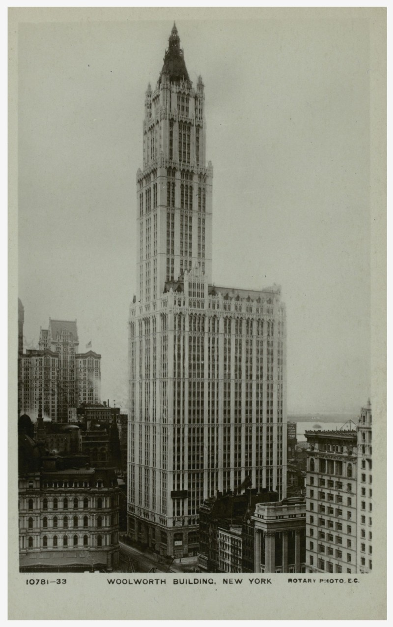 Woolworth Building, carte postala din 1913