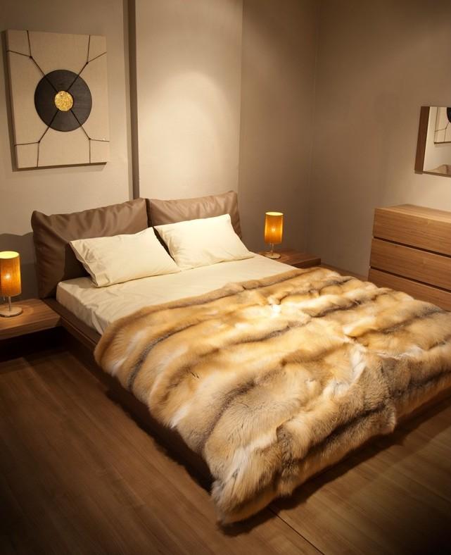 dormitor, cuvertura de blana