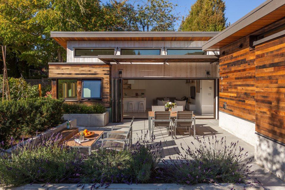 Proiect de casă eficientă energetic cu un singur nivel şi 2 dormitoare, de 82 mp