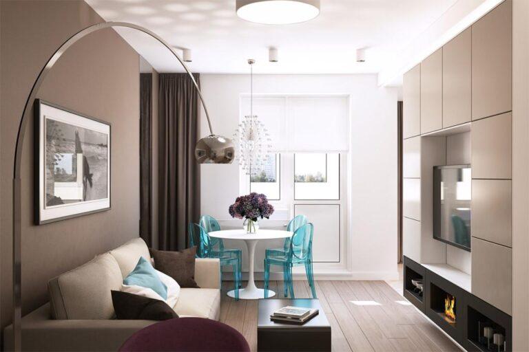 apartament in culori neutre living