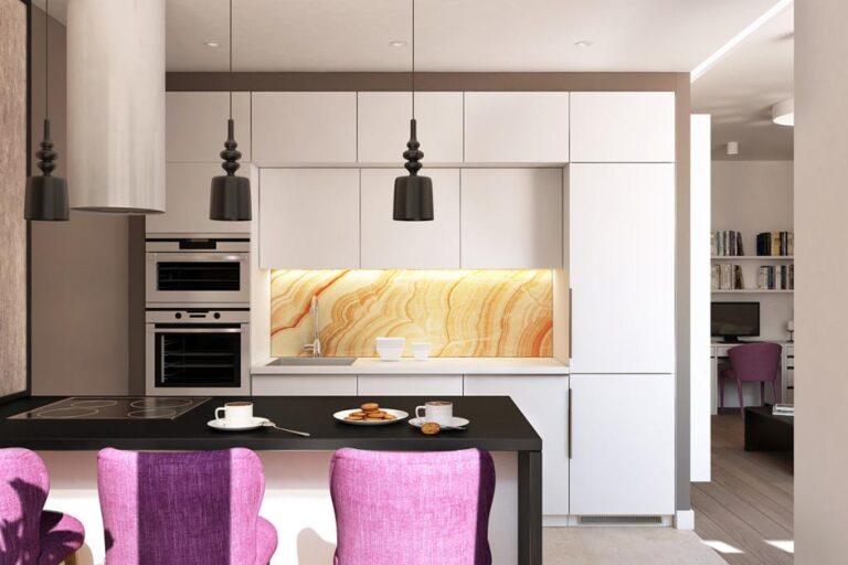 apartament in culori neutre bucatarie