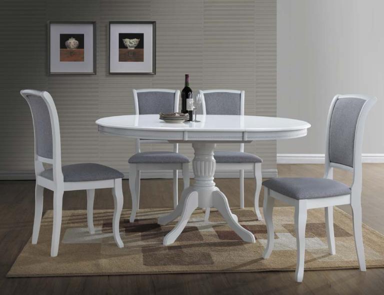 Masa extensibila cu piedestal, din lemn masiv si MDF. Oferta aici. Mai multe despre mesele cu piedestal aici.
