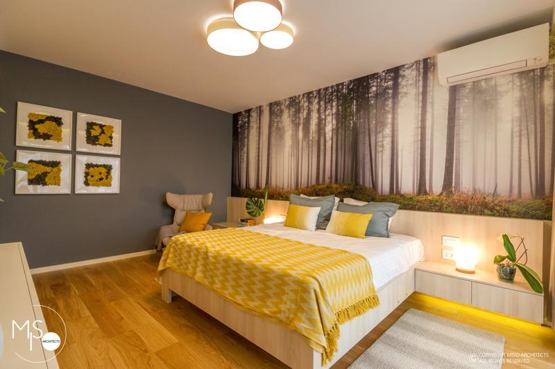 Miso Architects amenajare moderna apartament Bucuresti dormitor 2