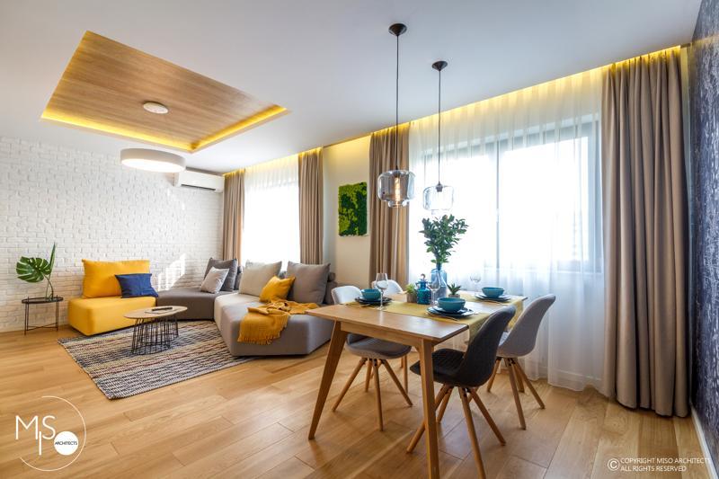 Miso Architects amenajare moderna apartament Bucuresti living1