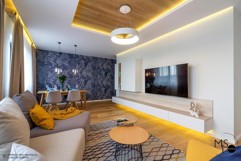 Miso Architects amenajare moderna apartament Bucuresti living3