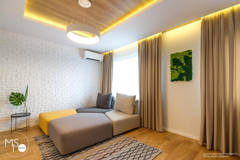 Miso Architects amenajare moderna apartament Bucuresti living8