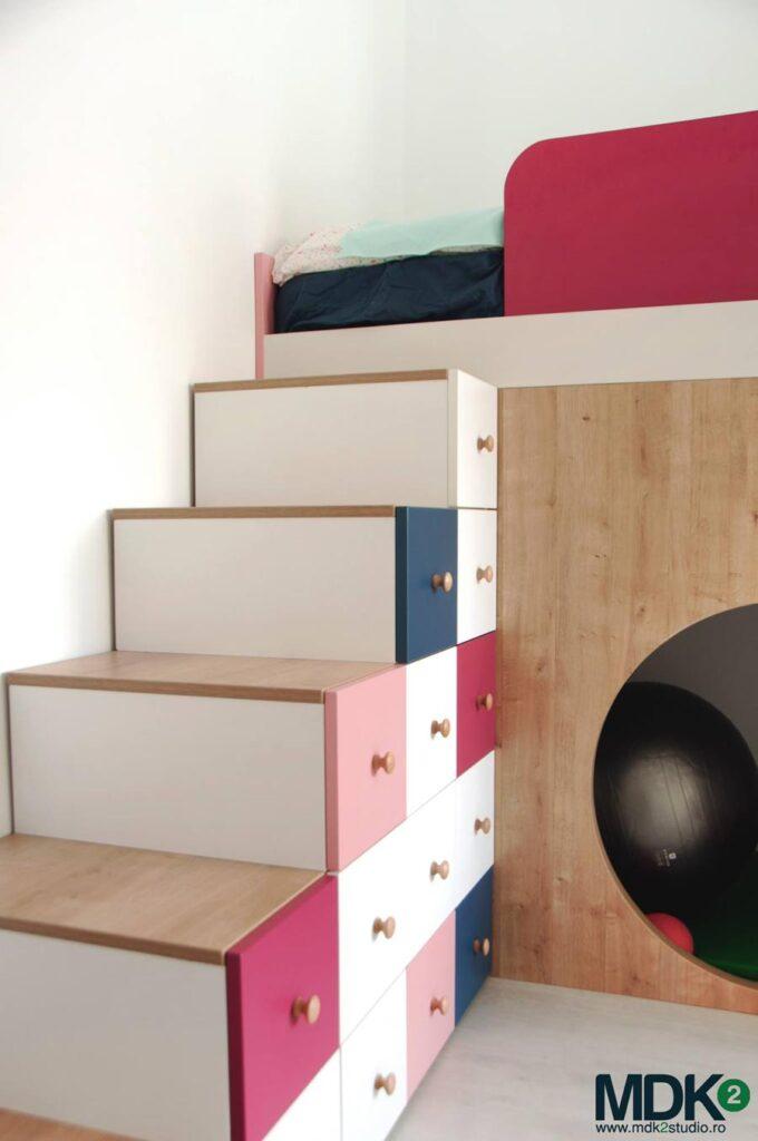 apartament plin de culoare bucuresti mdk2 studio camera fetitelor 1