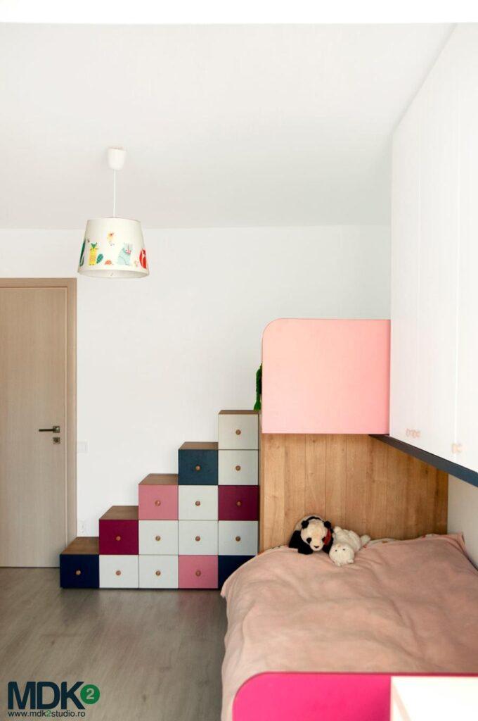 apartament plin de culoare bucuresti mdk2 studio camera fetitelor 7