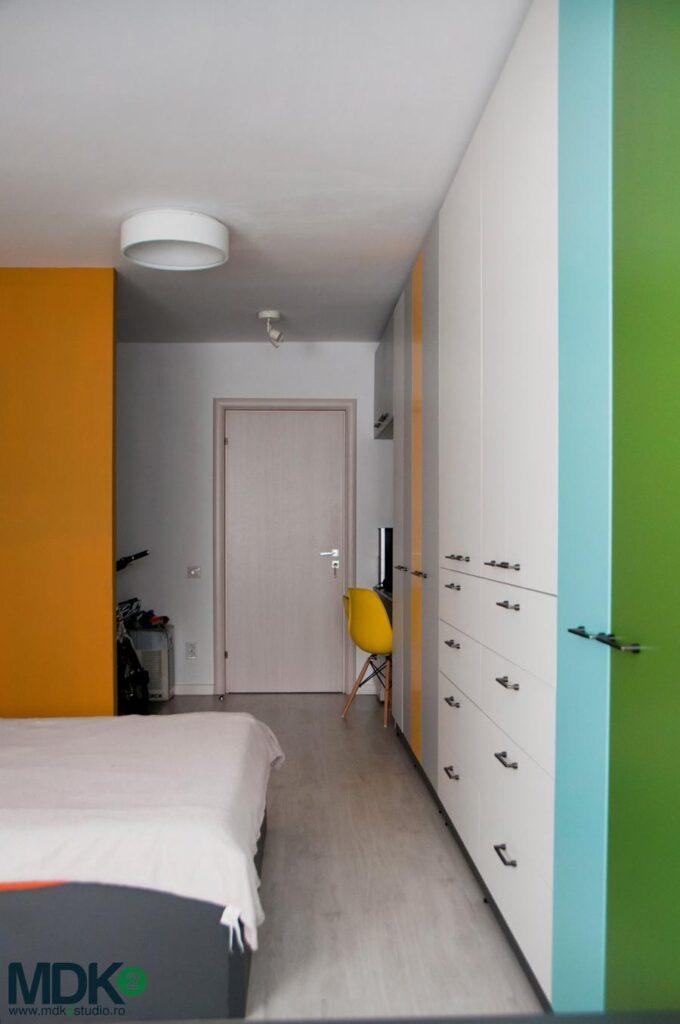 apartament plin de culoare bucuresti mdk2 studio dormitor matrimonial 1