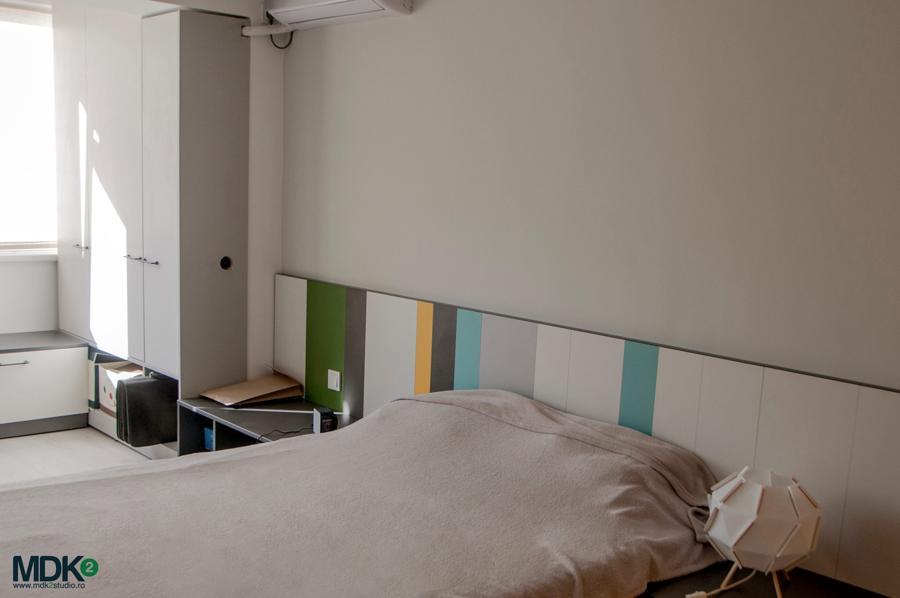 apartament plin de culoare bucuresti mdk2 studio dormitor matrimonial 2