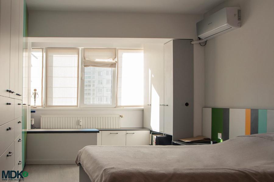 apartament plin de culoare bucuresti mdk2 studio dormitor matrimonial 3