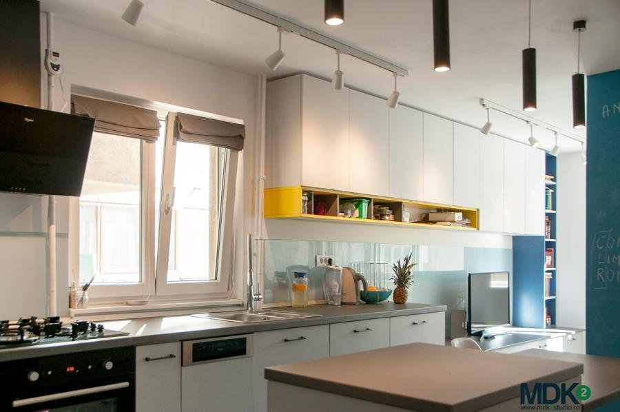 apartament plin de culoare bucuresti mdk2 studio living bucatarie 1