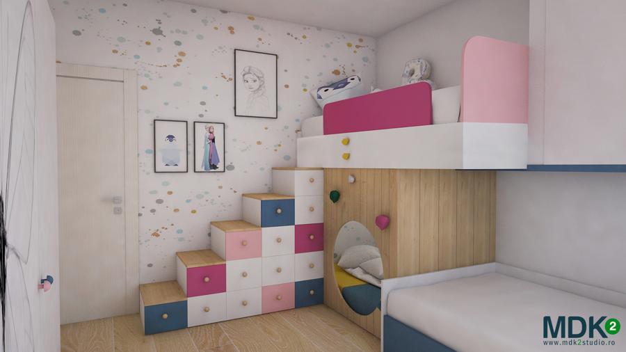Un apartament plin de culoare, cu o poveste cu totul specială, de MDK2 Studio Design