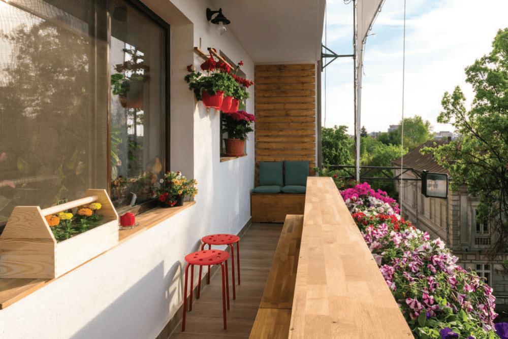 amenajarea unui balcon deschis