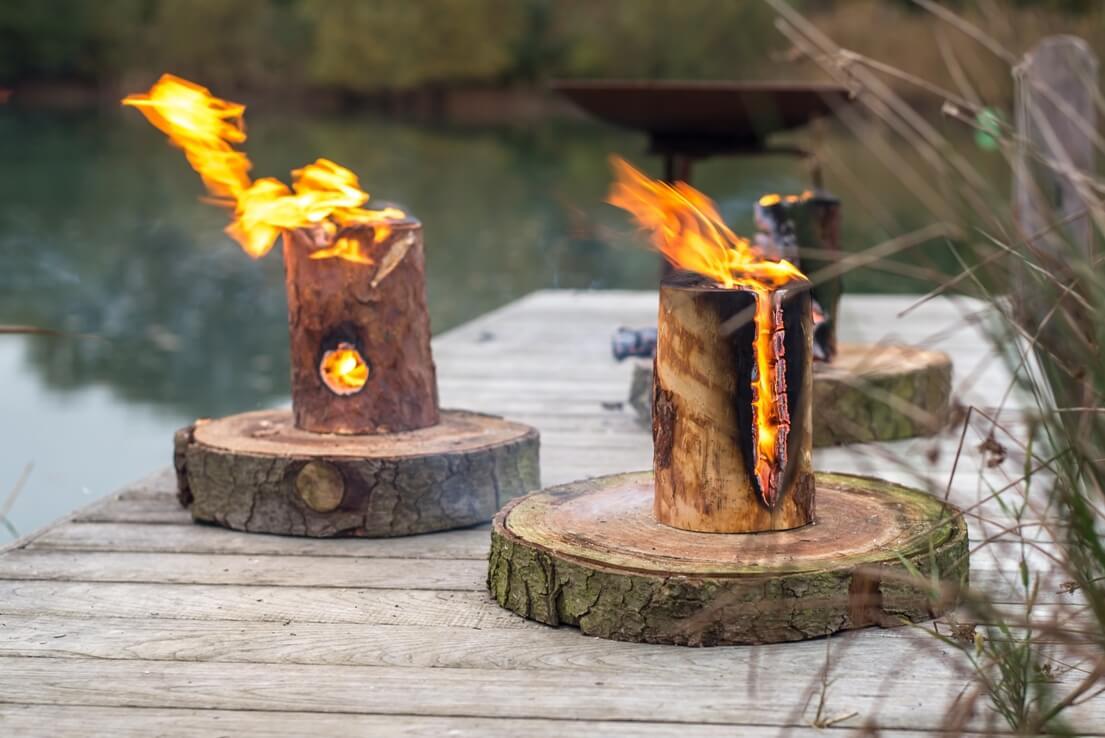 focul suedez dintr - o buturuga, foc de tabara