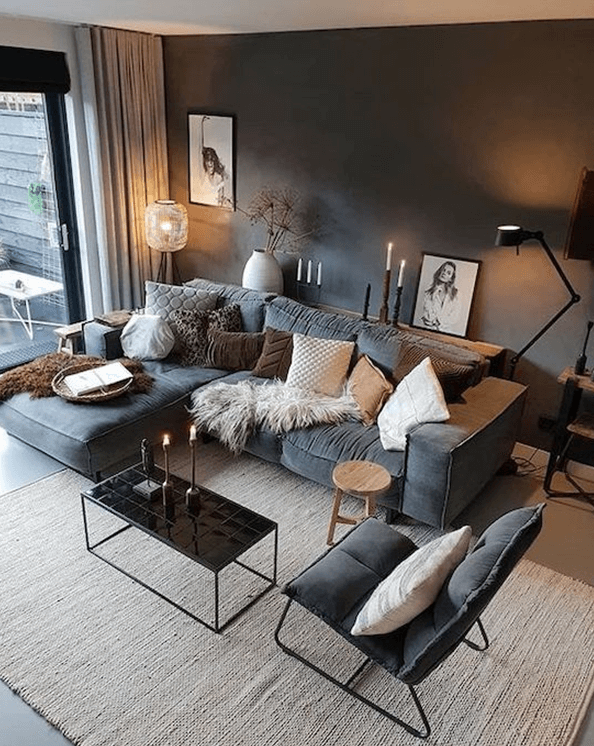 amenajarea livingului unui apartament mic