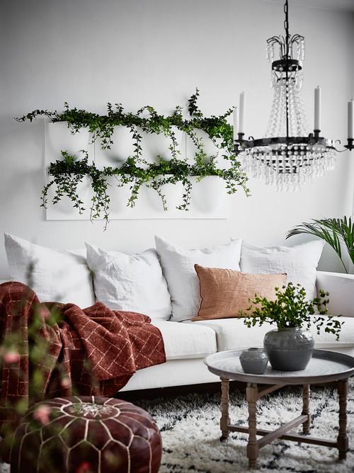 plantele artificiale in living