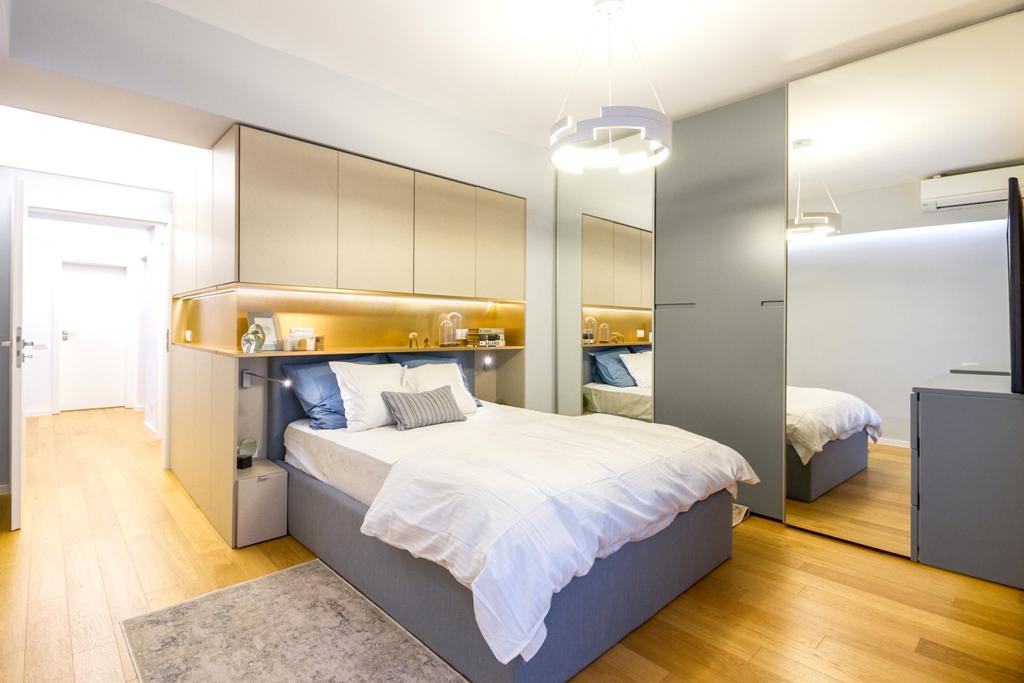 amenajare apartament cu 3 camere dormitor