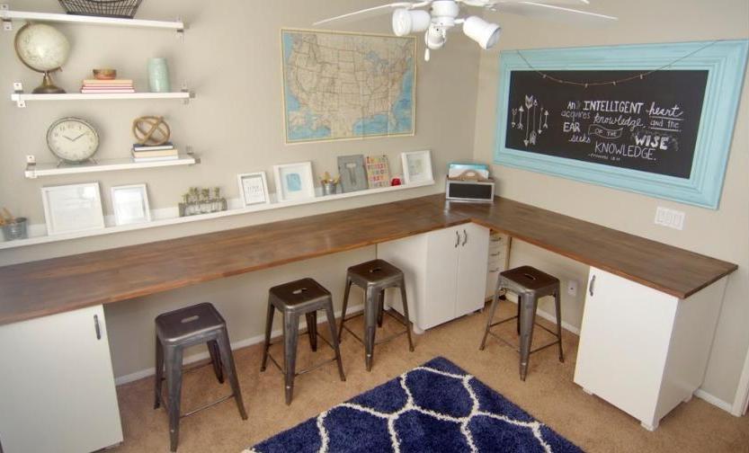 amenajare birou copii acasa, zona de studiu