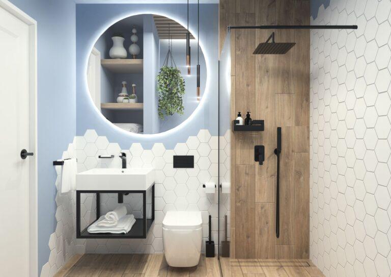 baterii baie negre - amenajare baie